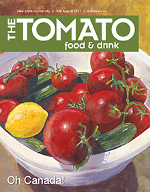 The Tomato Food & Drink cover for the July/August 2017 issue